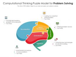 Computational Thinking Puzzle Model For Problem Solving