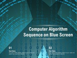 Computer Algorithm Sequence On Blue Screen