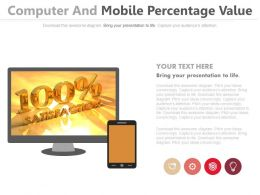 Computer And Mobile With Percentage Value Powerpoint Slides