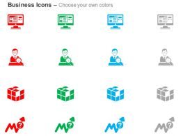 Computer Application Cube Business Person Search Missing Growth Ppt Icons Graphic