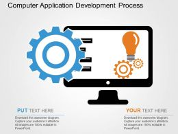 Computer Application Development Process Flat Powerpoint Design