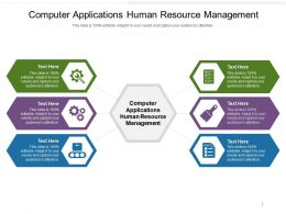 Computer Applications Human Resource Management Ppt Powerpoint Presentation Outline Cpb