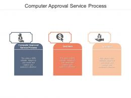 Computer Approval Service Process Ppt Powerpoint Presentation Model Template Cpb