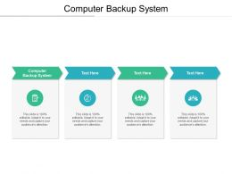Computer Backup System Ppt Powerpoint Presentation File Slide Cpb