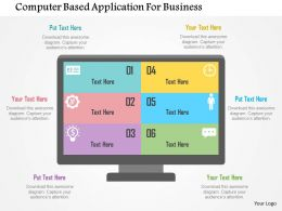 Computer Based Application For Business Flat Powerpoint Design