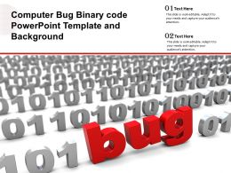 Computer Bug Binary Code Powerpoint Template And Background
