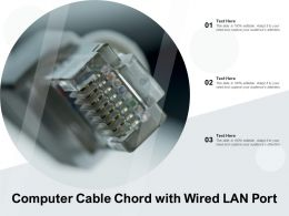 Computer Cable Chord With Wired LAN Port