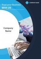 Computer Consultant Four Page Brochure Template