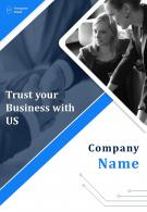 Computer Consulting Firm Four Page Brochure Template