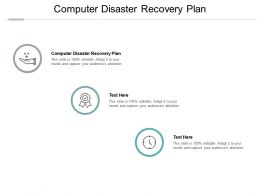 Computer Disaster Recovery Plan Ppt Powerpoint Presentation Infographics Cpb