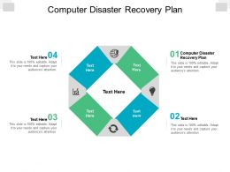 Computer Disaster Recovery Plan Ppt Powerpoint Presentation Show Clipart Cpb