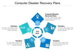 Computer Disaster Recovery Plans Ppt Powerpoint Presentation Infographic Template Summary Cpb