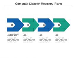 Computer Disaster Recovery Plans Ppt Powerpoint Presentation Slides Graphics Download Cpb