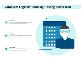 Computer Engineer Handling Hosting Server Icon