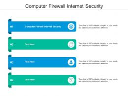 Computer Firewall Internet Security Ppt Powerpoint Presentation Show Visual Aids Cpb