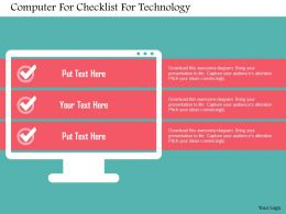 Computer For Checklist For Technology Flat Powerpoint Design