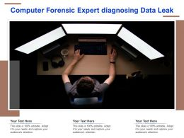 Computer Forensic Expert Diagnosing Data Leak