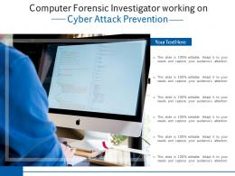 Computer Forensic Investigator Working On Cyber Attack Prevention
