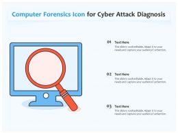 Computer Forensics Icon For Cyber Attack Diagnosis