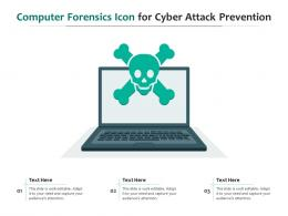 Computer Forensics Icon For Cyber Attack Prevention