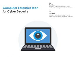 Computer Forensics Icon For Cyber Security