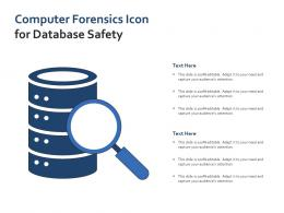 Computer Forensics Icon For Database Safety