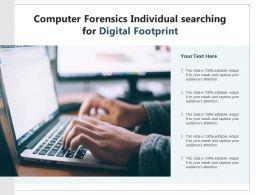 Computer Forensics Individual Searching For Digital Footprint