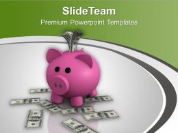 Computer Generated 3d Image Of Savings Powerpoint Templates PPT Backgrounds For Slides 0213