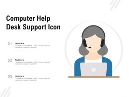 Computer Help Desk Support Icon