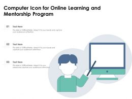 Computer Icon For Online Learning And Mentorship Program