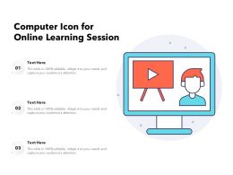 Computer Icon For Online Learning Session