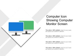 Computer Icon Showing Computer Monitor Screen