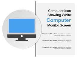 Computer Icon Showing White Computer Monitor Screen