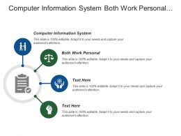 Computer Information System Both Work Personal Strategic Planning