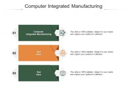 Computer Integrated Manufacturing Ppt Powerpoint Presentation Show Professional Cpb