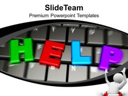 Computer Keyboard Help And Support Technology Powerpoint Templates Ppt Themes And Graphics 0113