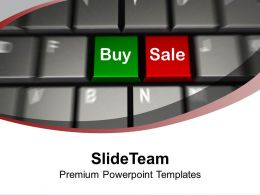 Computer Keyboard With Buy and Sale PowerPoint Templates PPT Themes And Graphics 0113