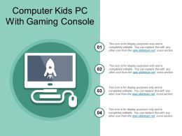 Computer Kids Pc With Gaming Console