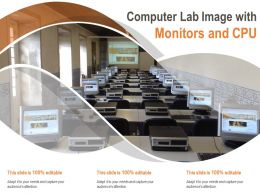 Computer Lab Image With Monitors And CPU