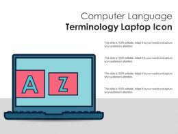 Computer Language Terminology Laptop Icon