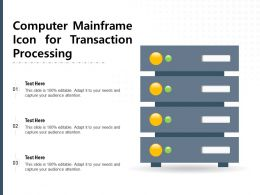 Computer Mainframe Icon For Transaction Processing