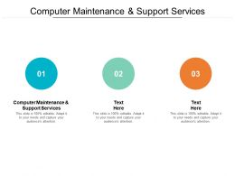 Computer Maintenance And Support Services Ppt Powerpoint Presentation Model Template Cpb
