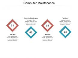 Computer Maintenance Ppt Powerpoint Presentation Professional Templates Cpb