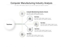 Computer Manufacturing Industry Analysis Ppt Powerpoint Presentation Slides Portrait Cpb