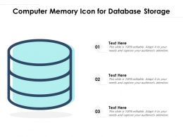 Computer Memory Icon For Database Storage