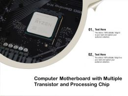 Computer Motherboard With Multiple Transistor And Processing Chip