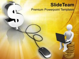 Computer Mouse Connected To Dollar Sign PowerPoint Templates PPT Themes And Graphics 0213