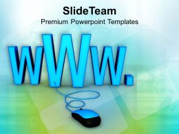 Computer Mouse Connected To WWW Sign PowerPoint Templates PPT Themes And Graphics 0213