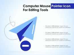 Computer Mouse Pointer Icon For Editing Tools