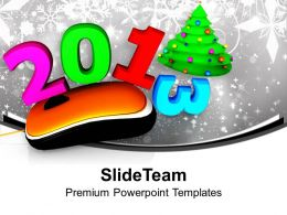 Computer Mouse With 2013 Christmas Tree Powerpoint Templates Ppt Themes And Graphics 0113